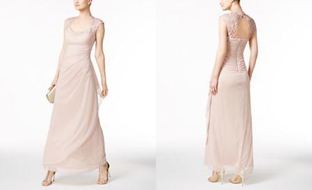 X by XSCAPE Lace-Trim Ruched Gown | Best Woman | Pinterest | Gowns ...
