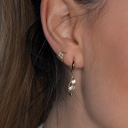 Kit Heath Blossom Eden Mini Wrapped Leaf Gold Stud Earrings In 2020 Gold Earrings Studs Stud Earrings Custom Diamond Jewelry