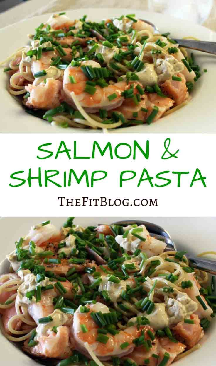 Salmon Shrimp Pasta
