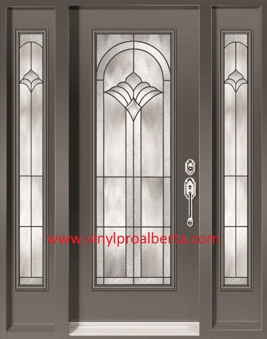 Cheap entry doors with side lights doors steel entry for Exterior front door lights