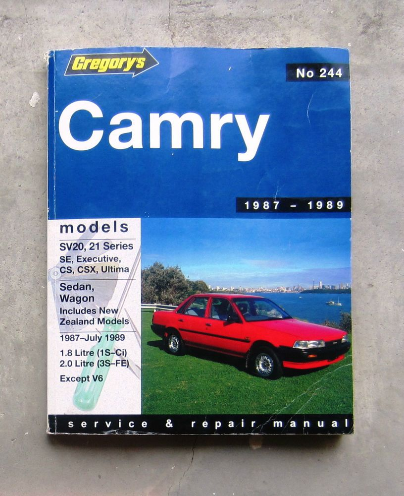 toyota camry 1987 89 auto owners workshop service repair manual sv20 rh pinterest com 1989 Toyota Camry MPG 86 Camry