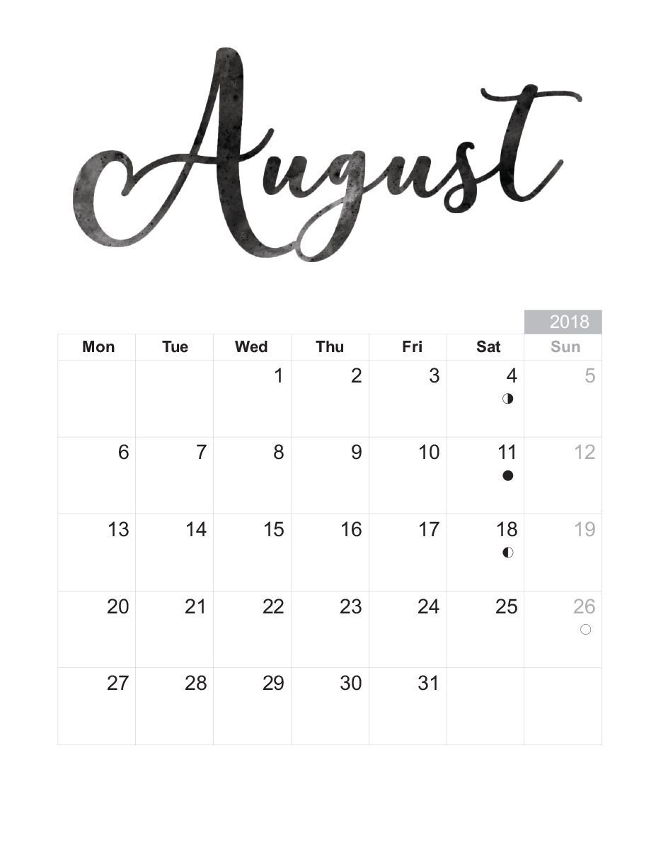Pin by Raghuveer Singh on August 2018 Calendar