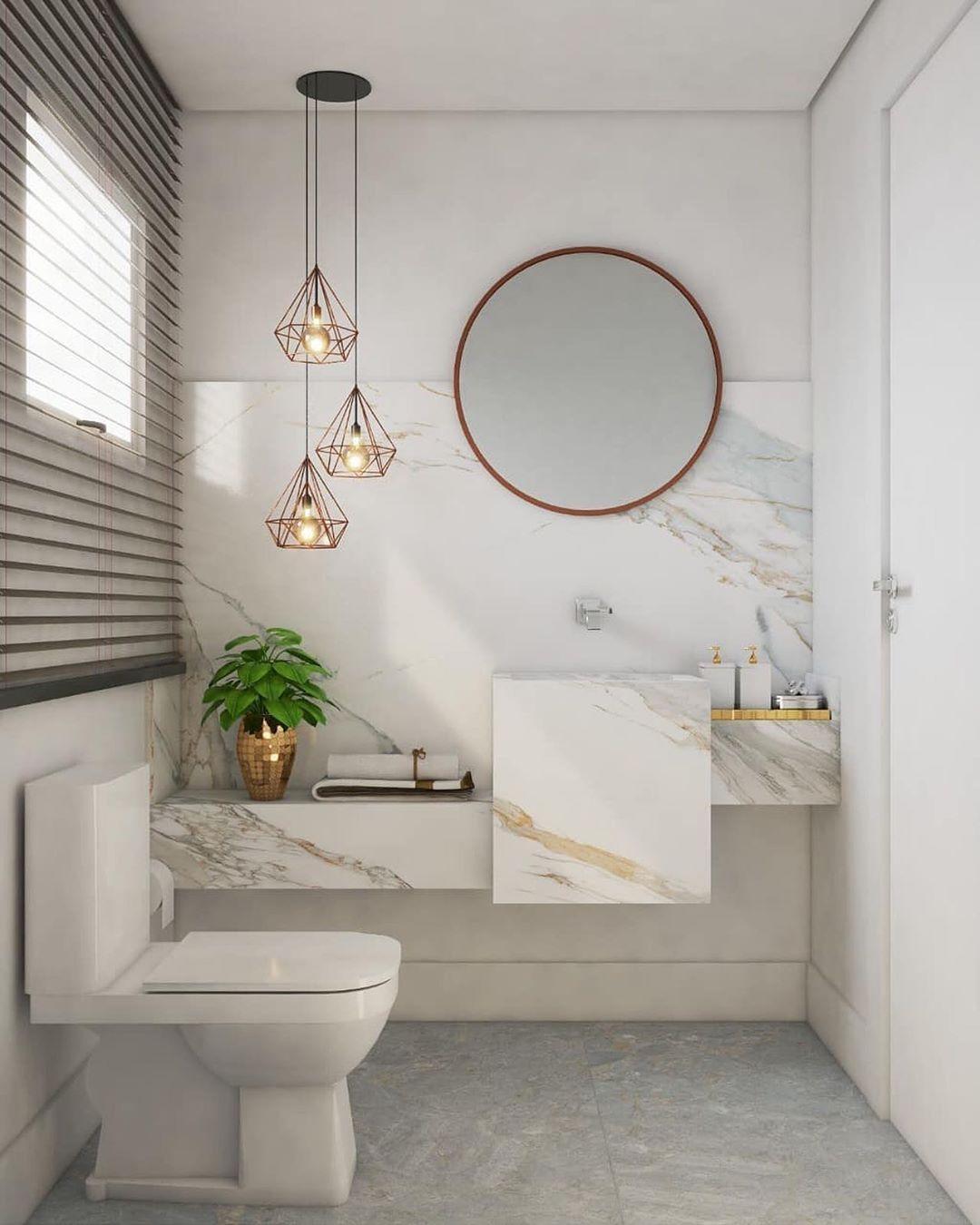 Modern Bathroom Design Ideas in 2020 | Round mirror ...