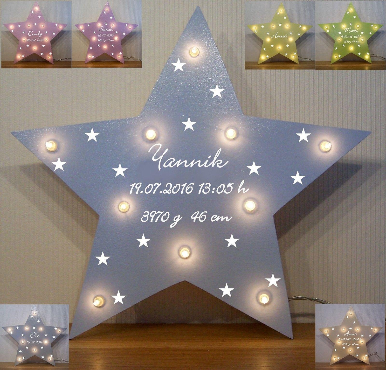 Schlummerlicht kleine Sterne Lampe Geschenk Baby Geburt ...