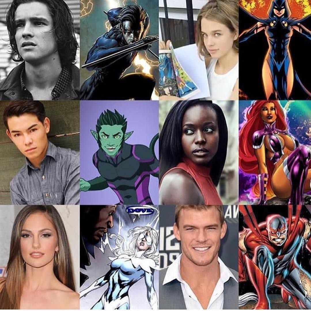 Comic Tv Cast For The Show Titans Comicsandcoffee  Teen -9688