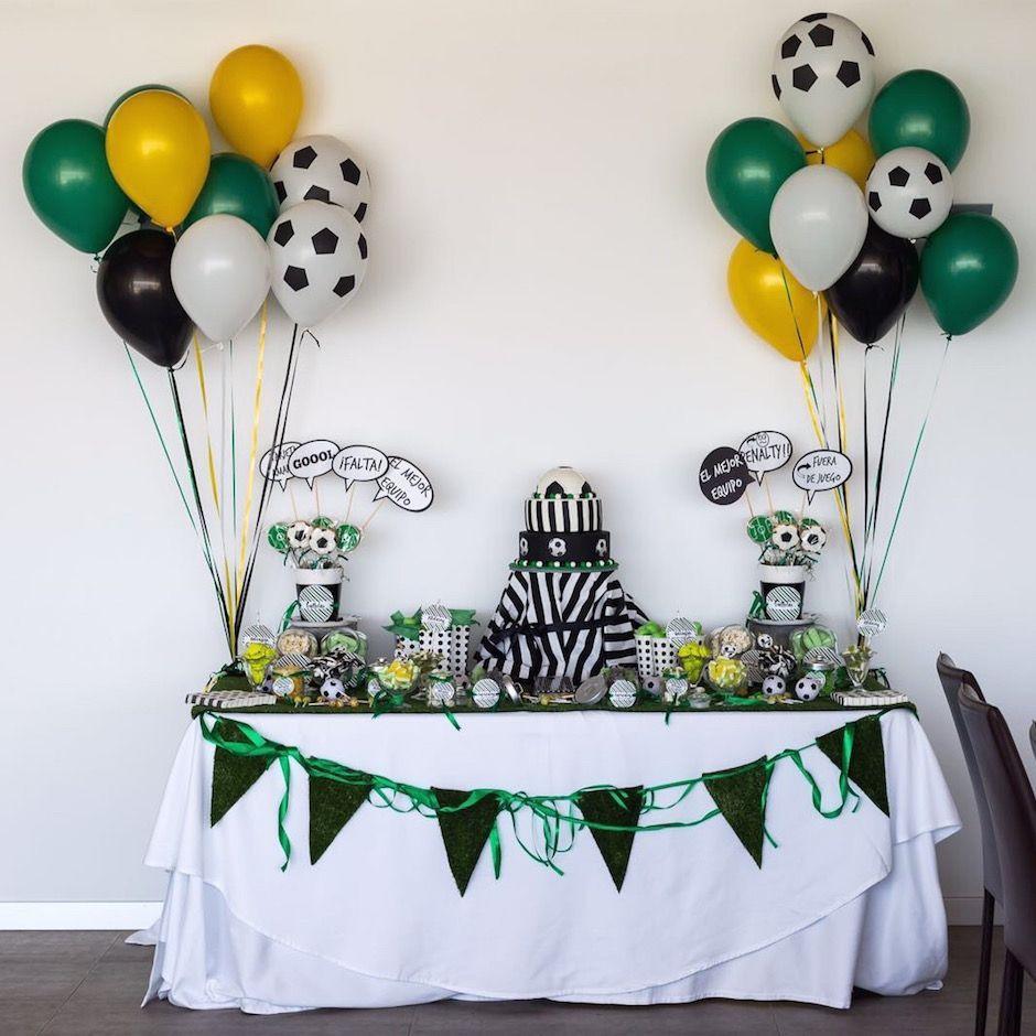 El futbol el protagonista decoraci n para una fiesta - Mesa cumpleanos adulto ...