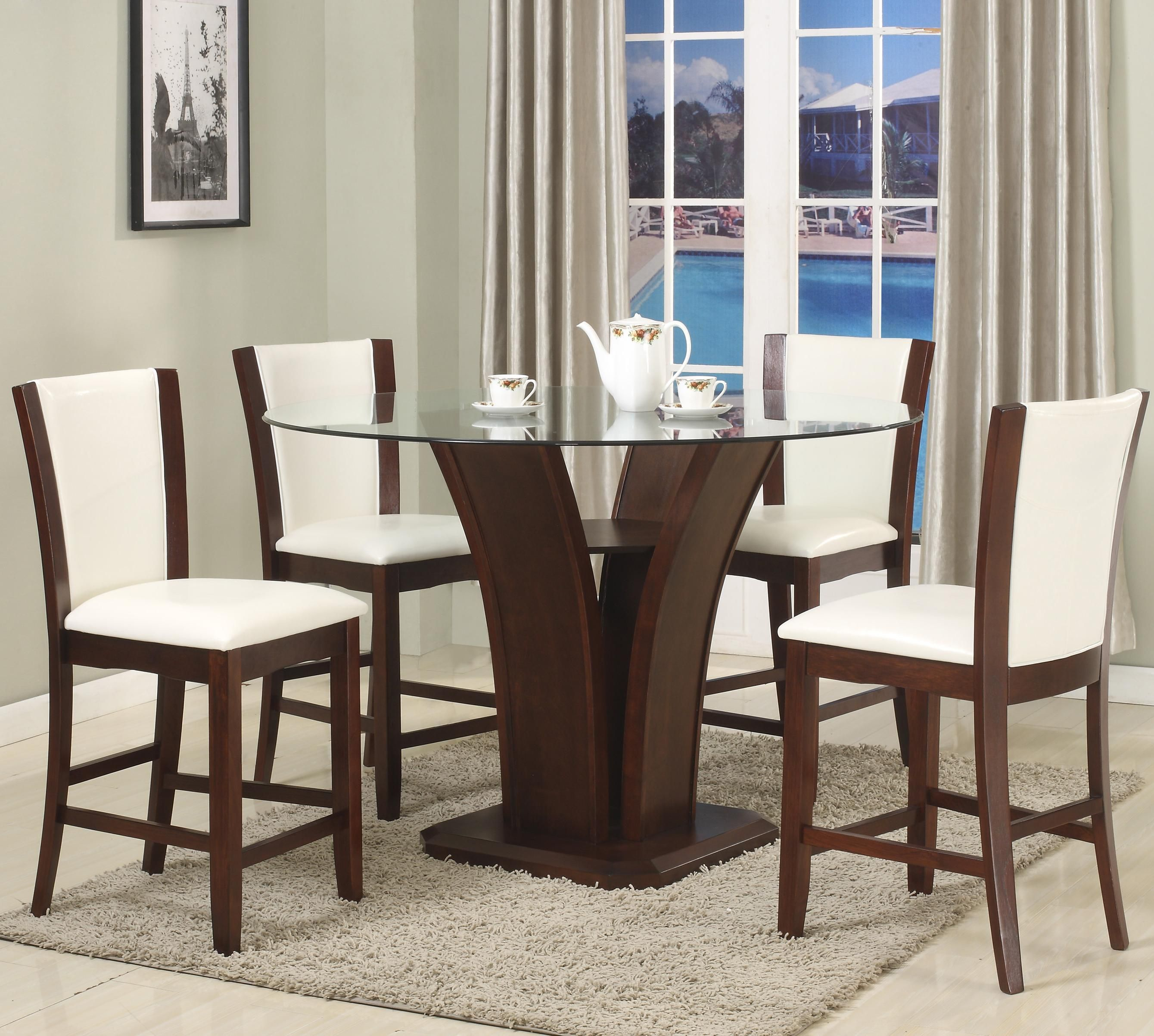 25++ Crown 5 piece glass top dining table set Ideas