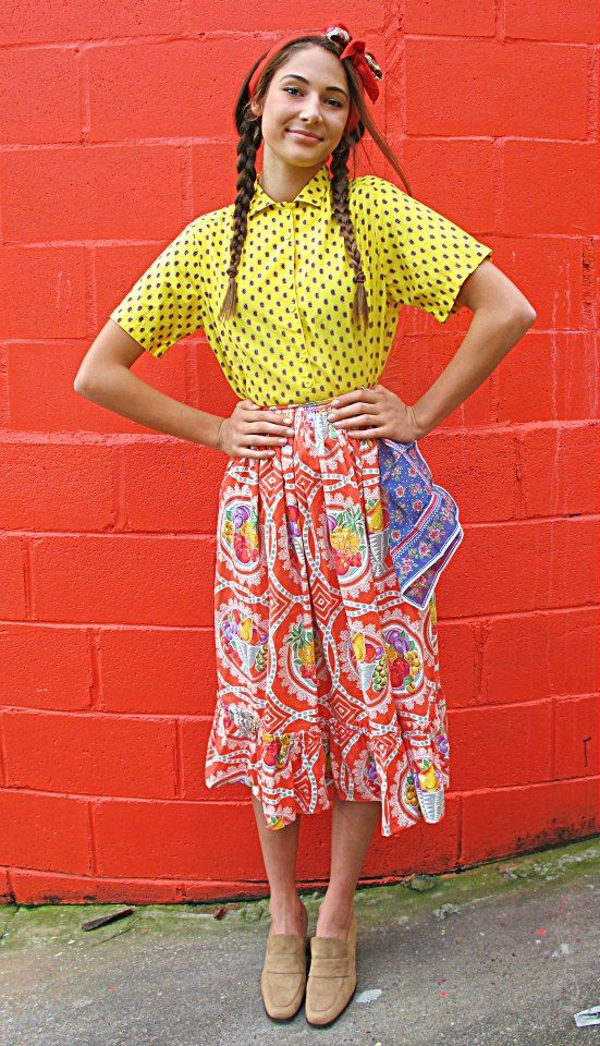 Brights + patterns + a neutral