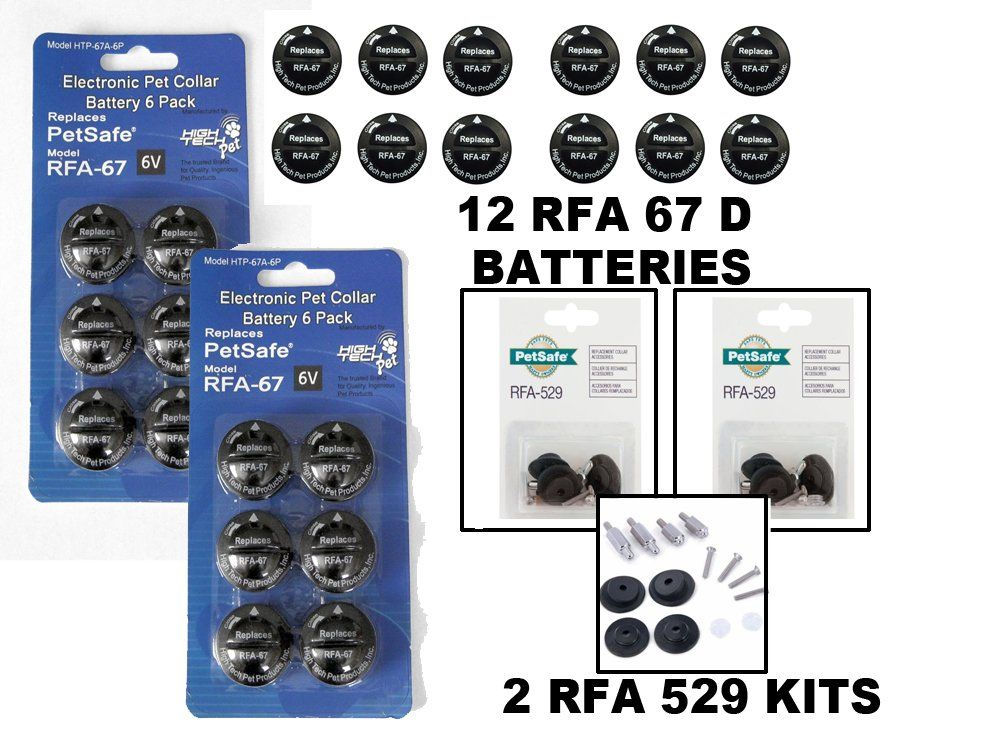 High Tech Rfa 67 Batteries Alternative 12 Pack Plus Petsafe 2 Rfa