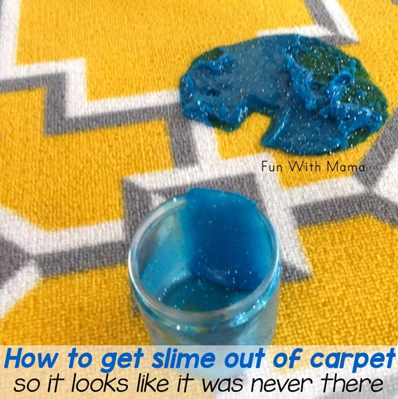 How to get slime out of carpet easily stay sane