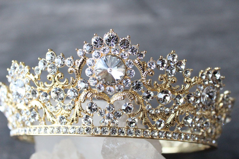 Gold Tiara,Crystal Bridal Tiara,Wedding Tiara,crown,tiara crown,bridal crown,Gold crown,bridal tiara,bridal crowns and tiaras,tiara wedding