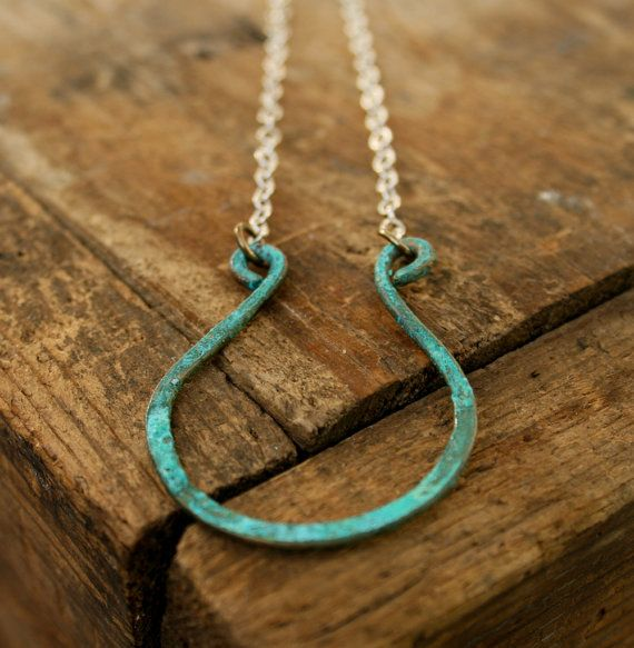 Lucky Verdigris Horseshoe on sterling silver by jennreeseSEVEN, $36.00
