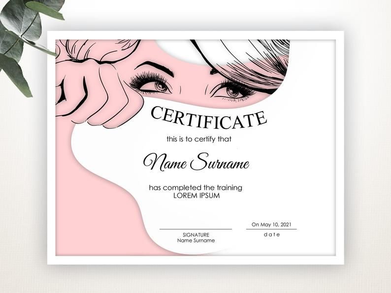 Pink Certificate Of Completion Editable Certificate Template Blank Certificate Elegant Certificate Modern Certificate Digital Download In 2021 Certificate Design Template Certificate Design Certificate Templates