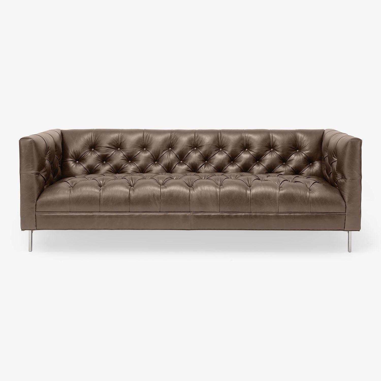 Cobble Hill Tribeca Leather Sofa Abc Carpet Home Sofa