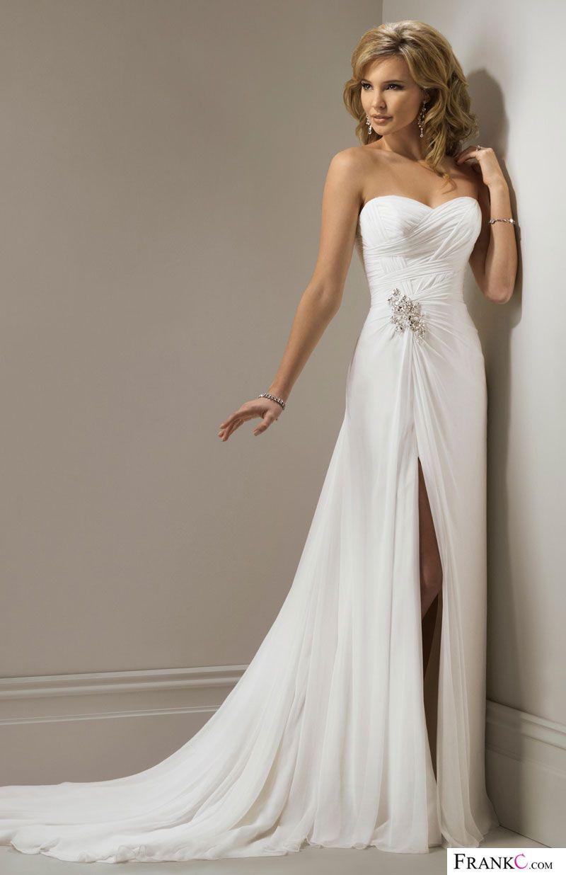 Beach wedding dresschiffon wedding dresswedding dress brandyus