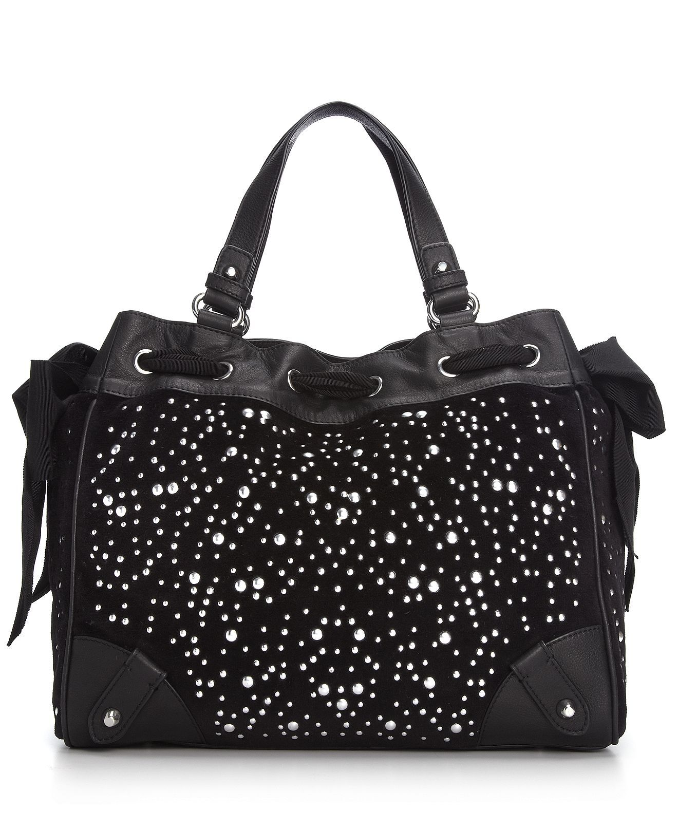 c11d891a28b6 Juicy Couture Handbag, Studded Velour Daydreamer Tote - Handbags &  Accessories - Macy's