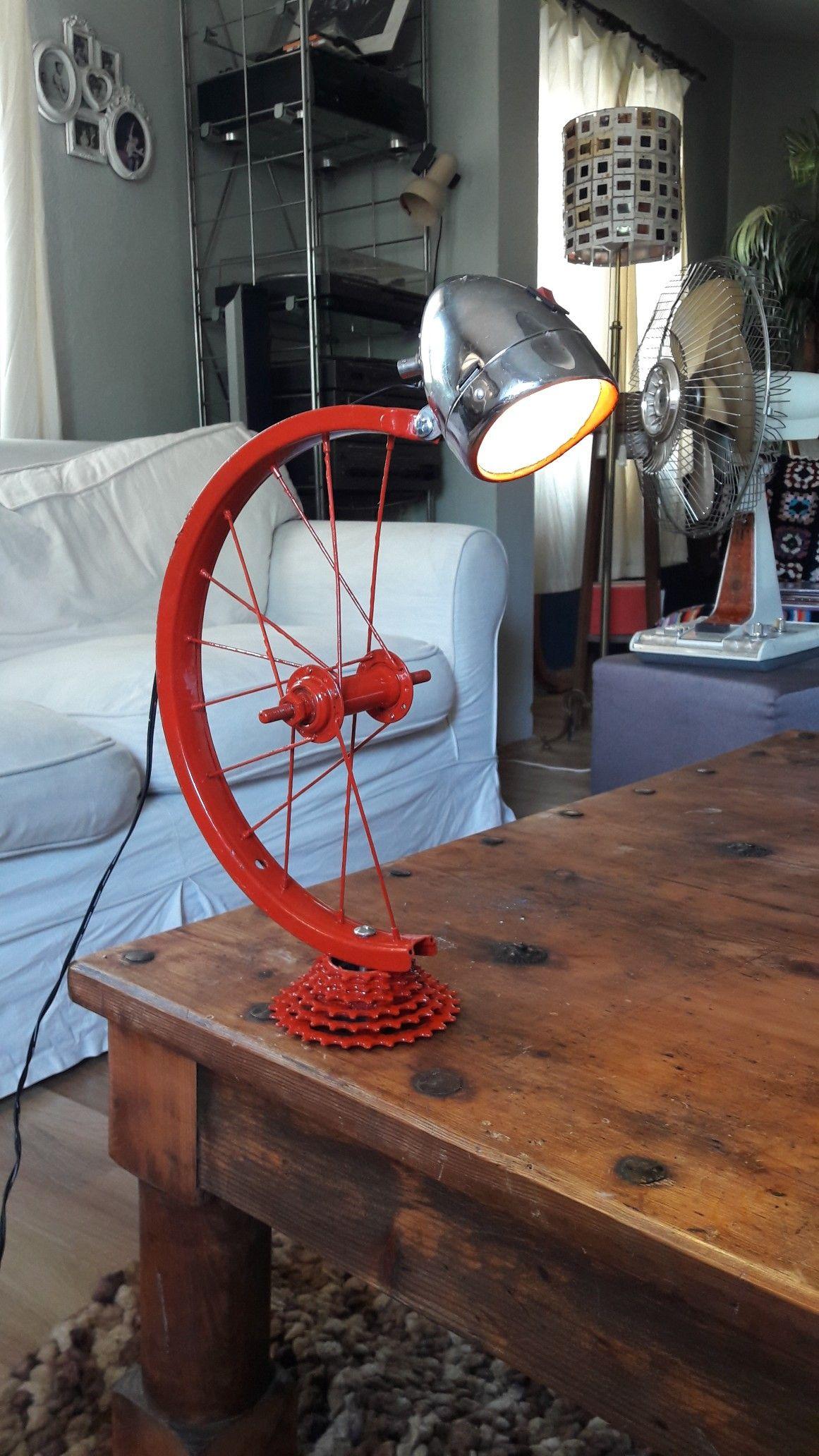 Geridönüşüm bisiklet tekerinden aydınlatma-Upcycled bike parts