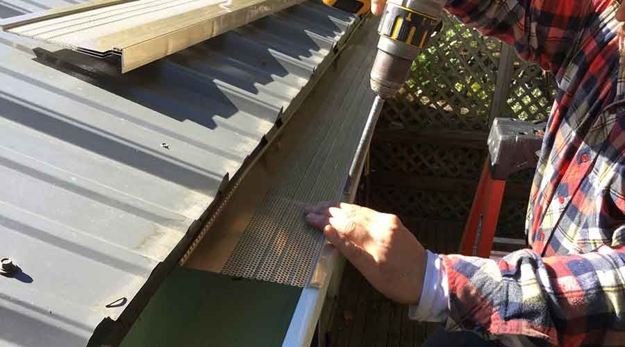 Say Goodbye To Gutter Problems Microguard Englert S Micro Perforation Shedding System Is The Best Of Drainage Tech Gutter Guard How To Install Gutters Gutter