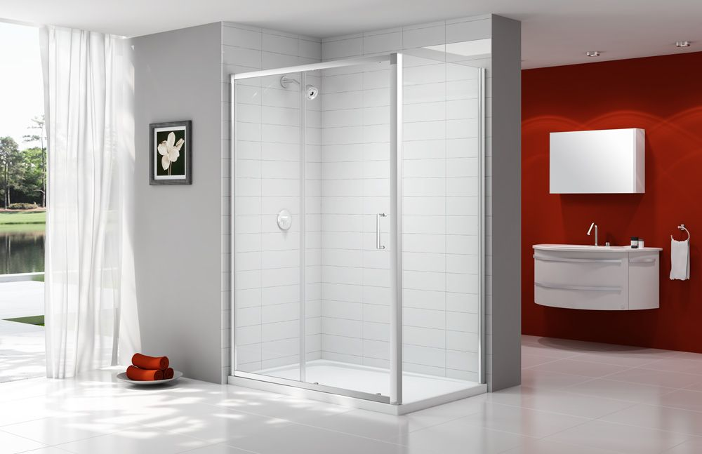 Standing At 1900mm High The Ionic Express Sliding Door Has 6mm Mershield Stayclear Coated Glass Smooth Action Easy Clean Double Rollers Double Fi Pinterest