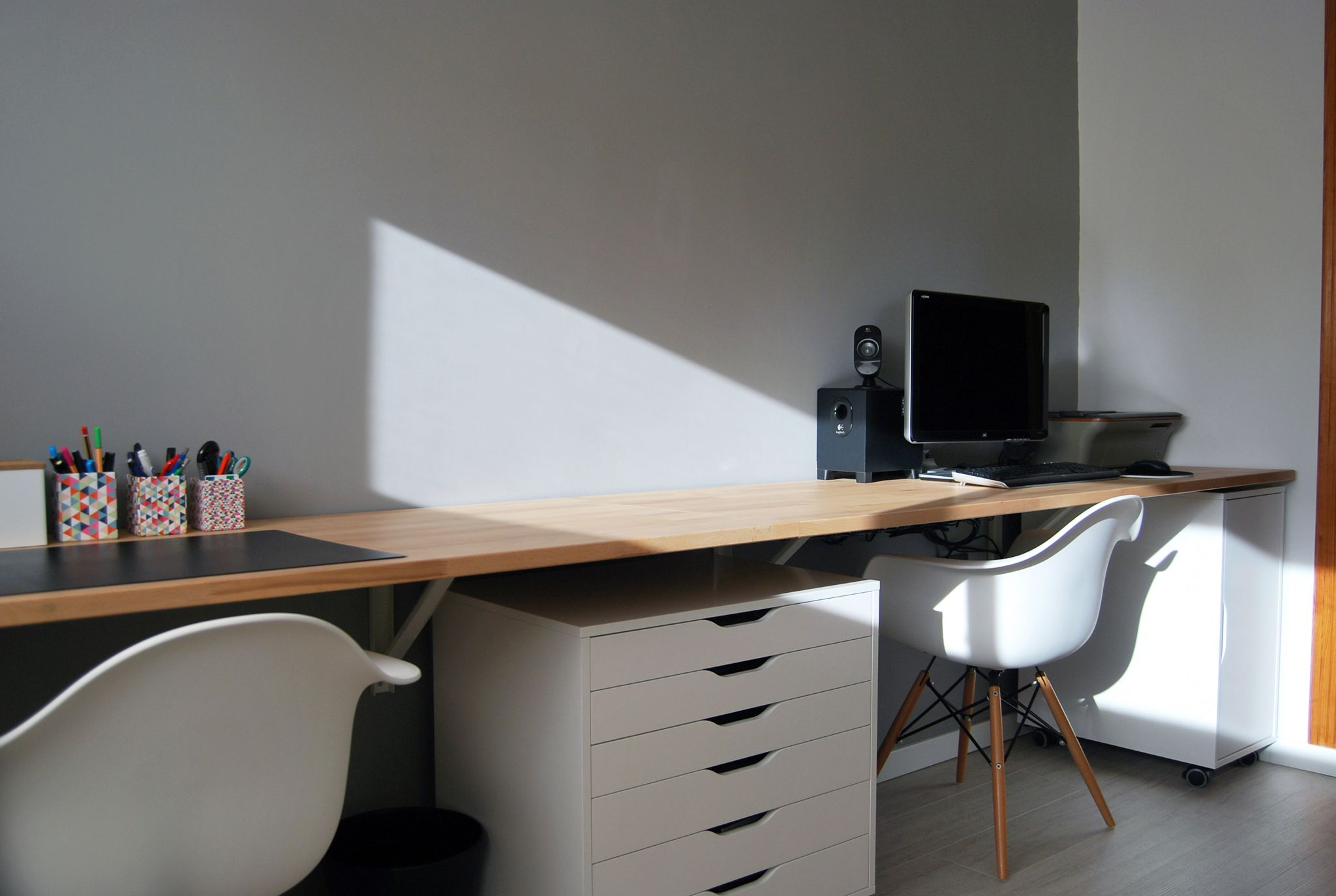 Floating desk #interior #design #architecture #furniture #IKEA ...