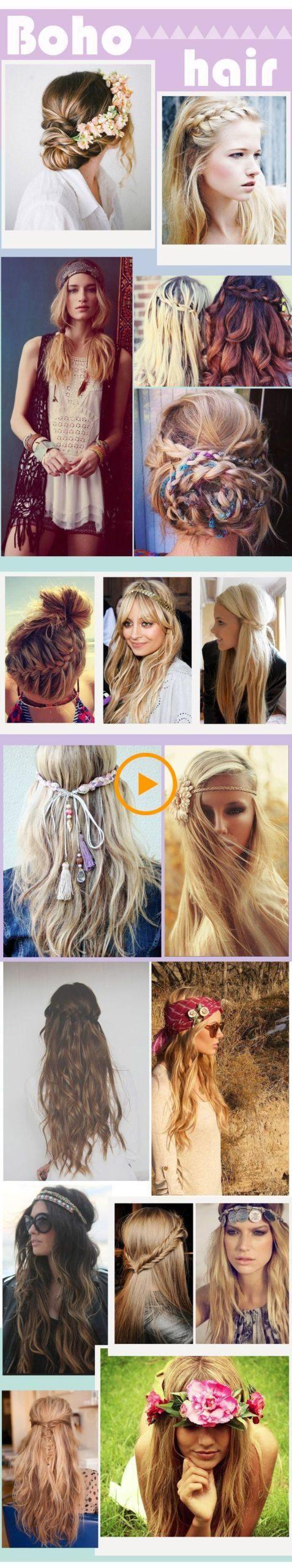 #Boho #Boho Peinado #Peinados #Ideas 34 Peinados Boho Ideas que quiero …