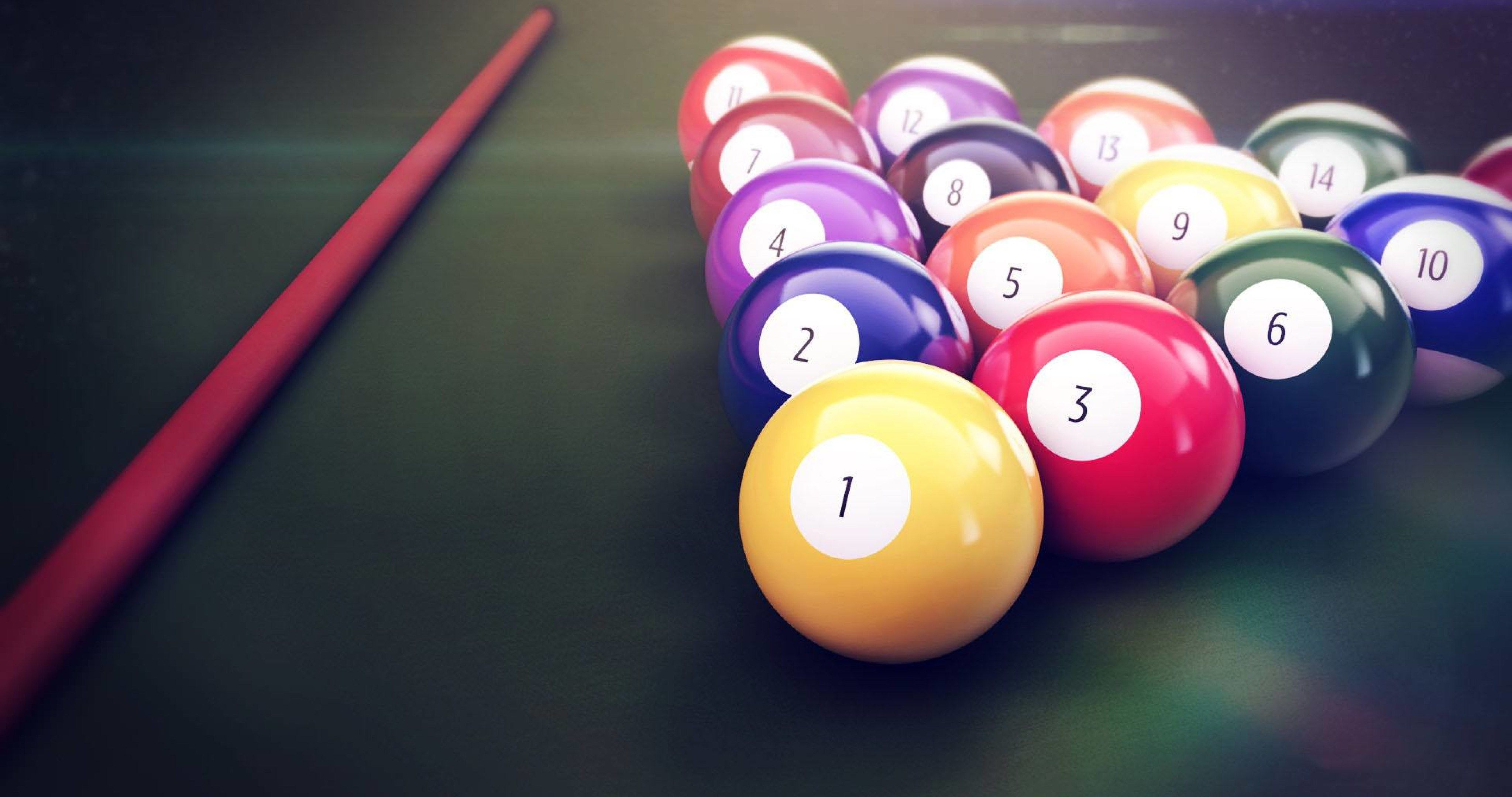 Pool Table Balls 4k Ultra Hd Wallpaper