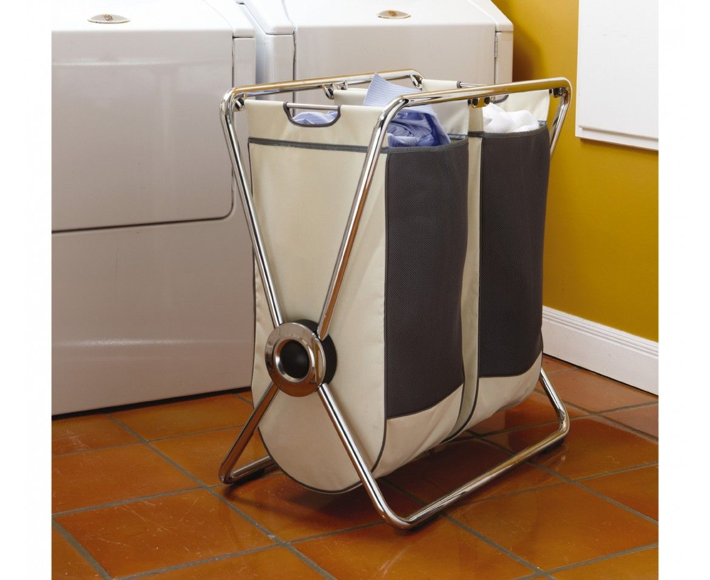 Simplehuman Double Chrome Steel X Frame Laundry Hamper Laundry