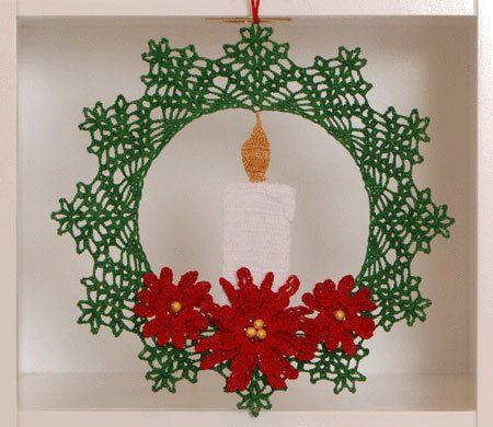 10 Christmas Wreath Crochet Patterns Poinsettia