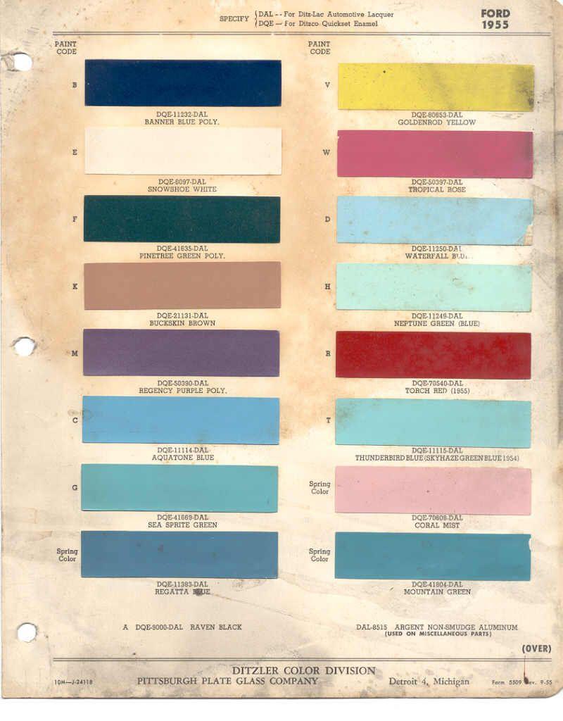 Leyland paints colour chart - 1955 Ford Paint Color Codes And This Original Paint Color Chart Units Pinterest Paint Colors Charts And Ford Trucks