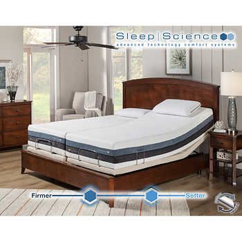 sleep power king memory iflip with adjustable foam mattress dual pin science sonoma base split comfort