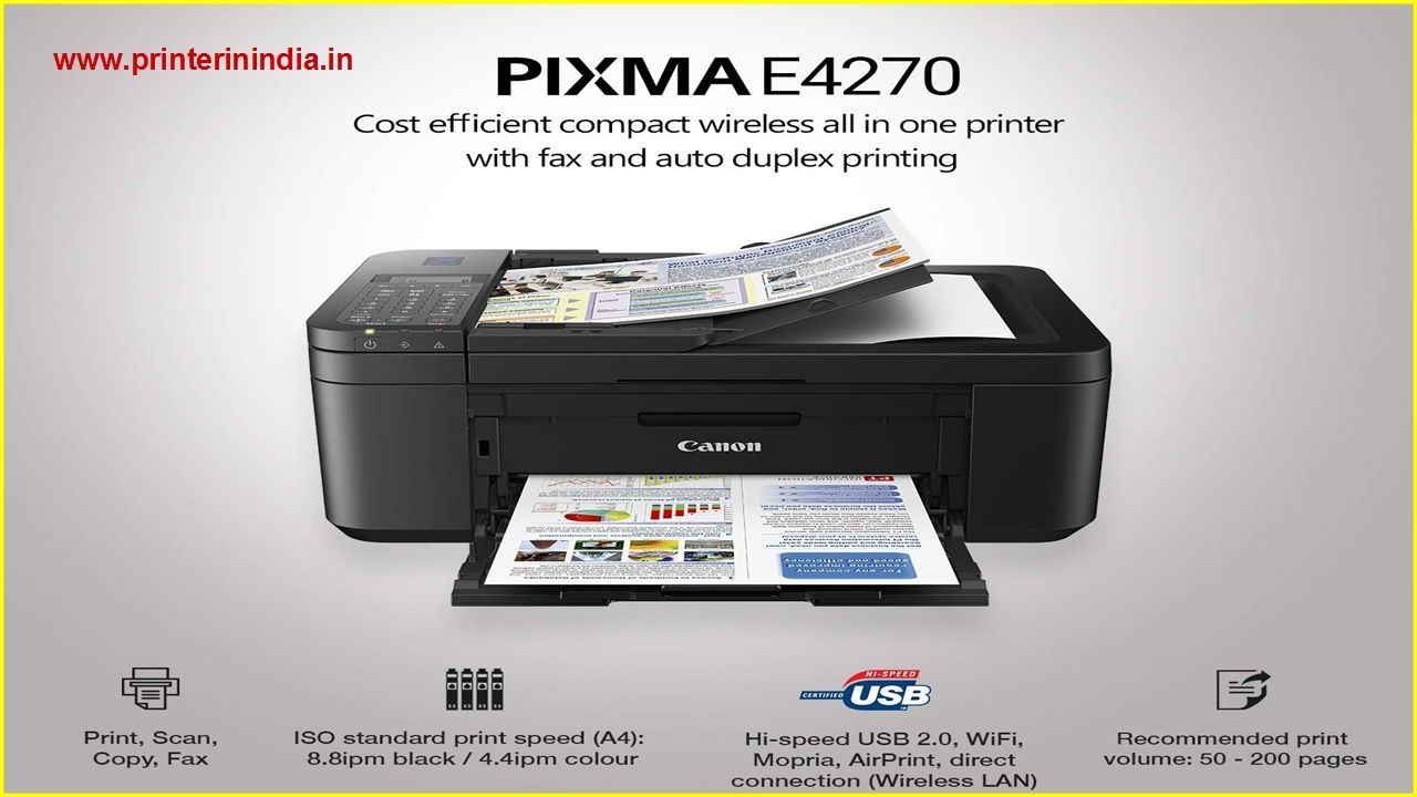 Http Www Printerinindia In Best All In One Ink Efficient Printer Canon E4270 Specs Review Price Html In 2020 Printer Wifi Printer All In One