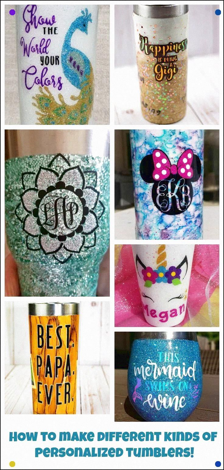Diy tumbler cups tutorials learn how to make all different