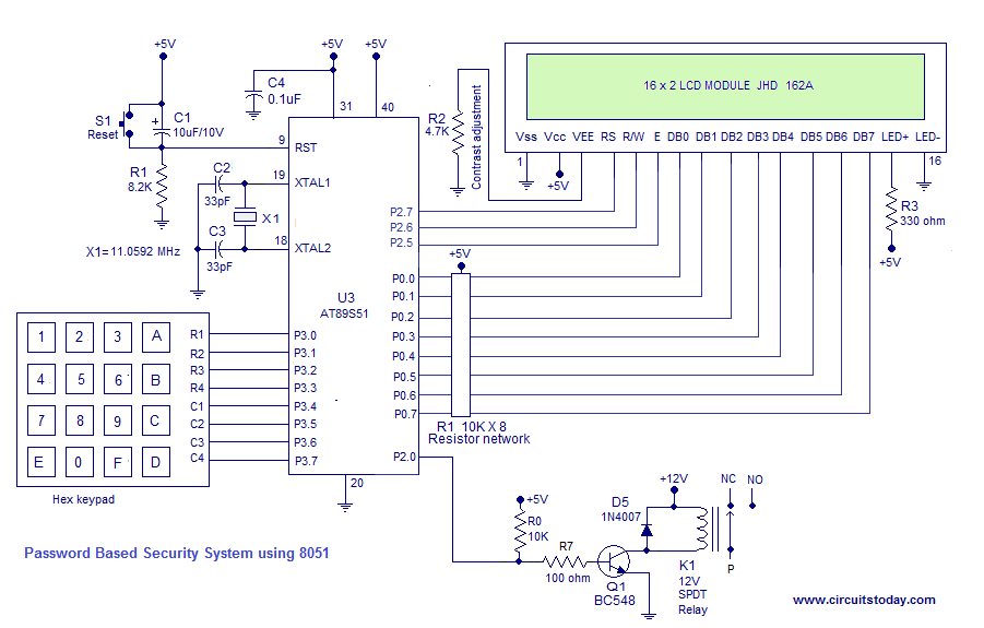 Digital Door Lock Using 8051 Electronic Code Lock Using