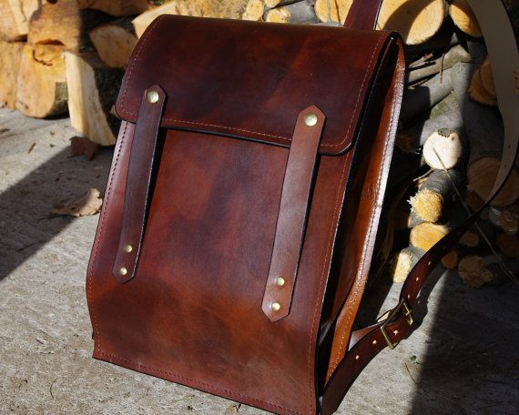 If I was rich.....Leather Backpack - Rucksack Style - Hard Leather ...
