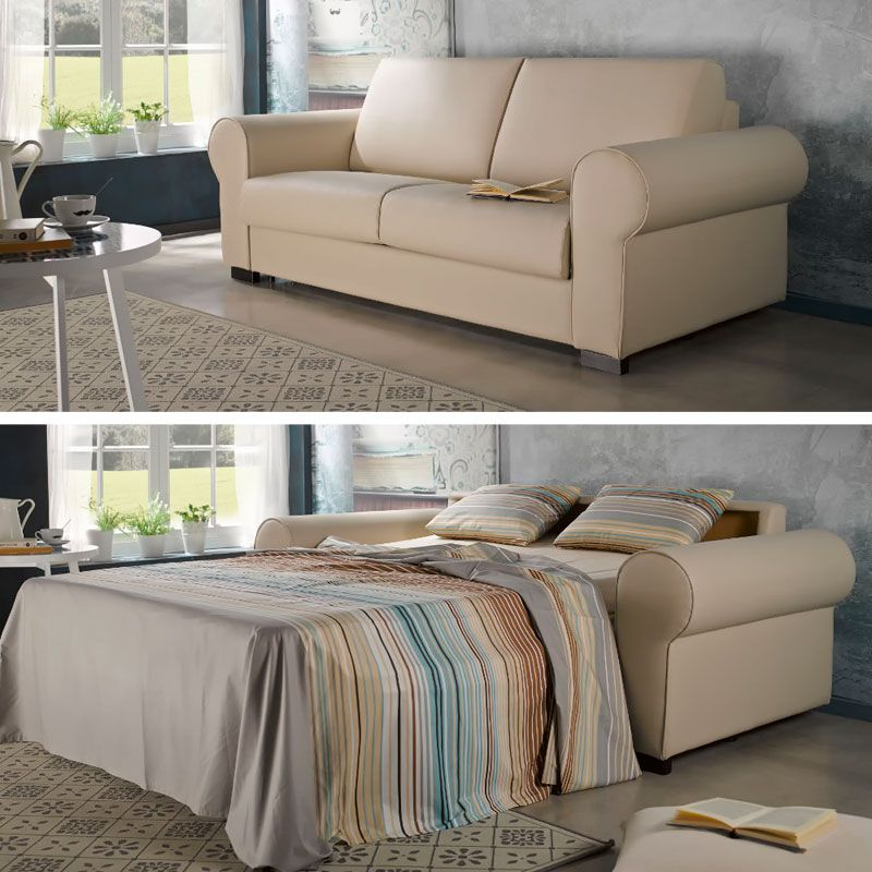 Sofá cama con chaise longue Monza fabricado por Suinta en