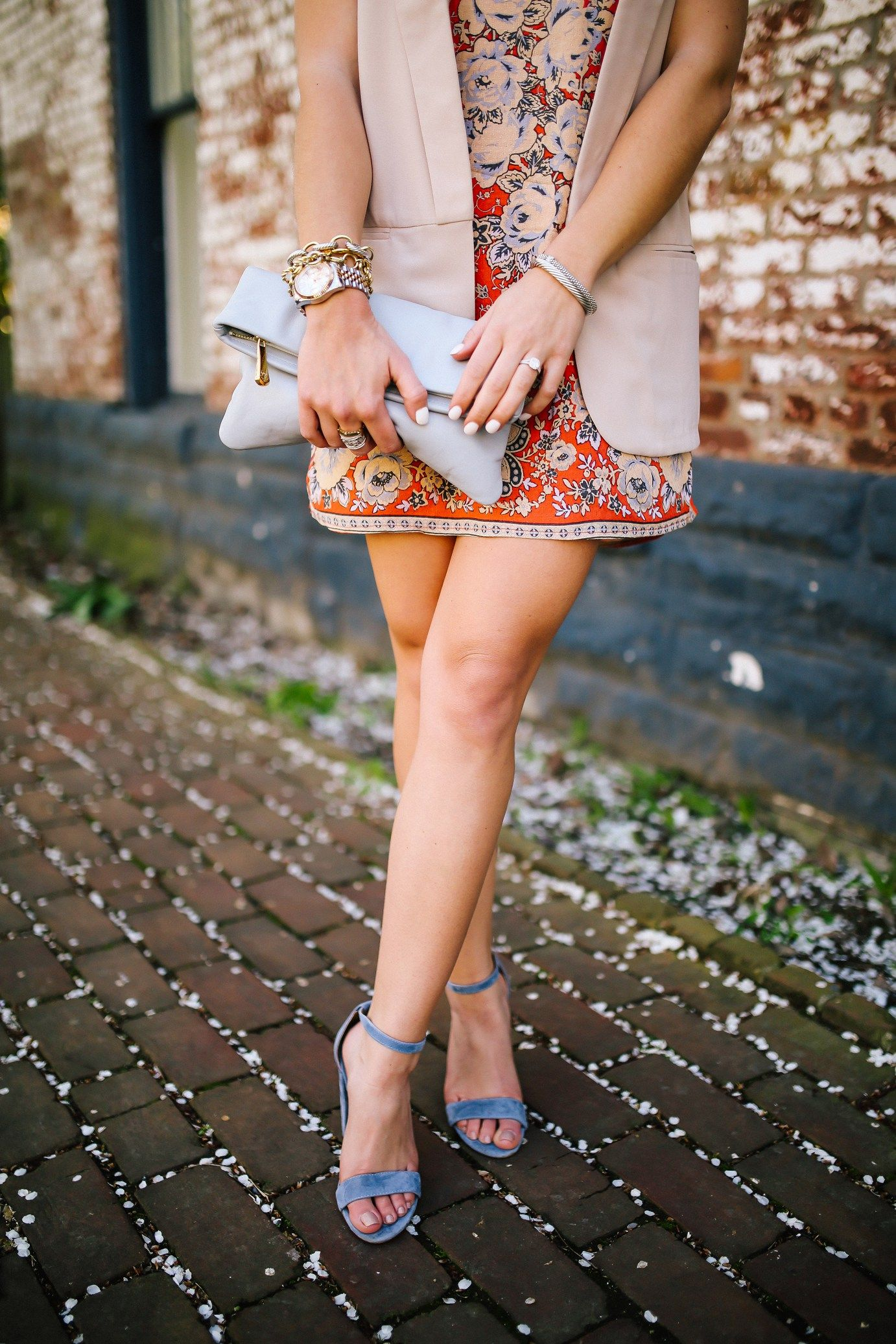 Spring Style Inspiration: Urban Outfitters Dress, Steve Madden Shoes, GiGi New York Clutch