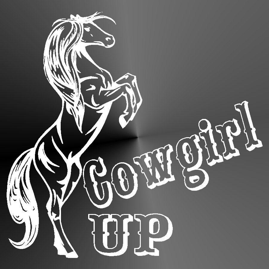 Vinyl Decal Vinyl Sticker Decal Sticker Cowgirl Up Horse Cut Vinyl