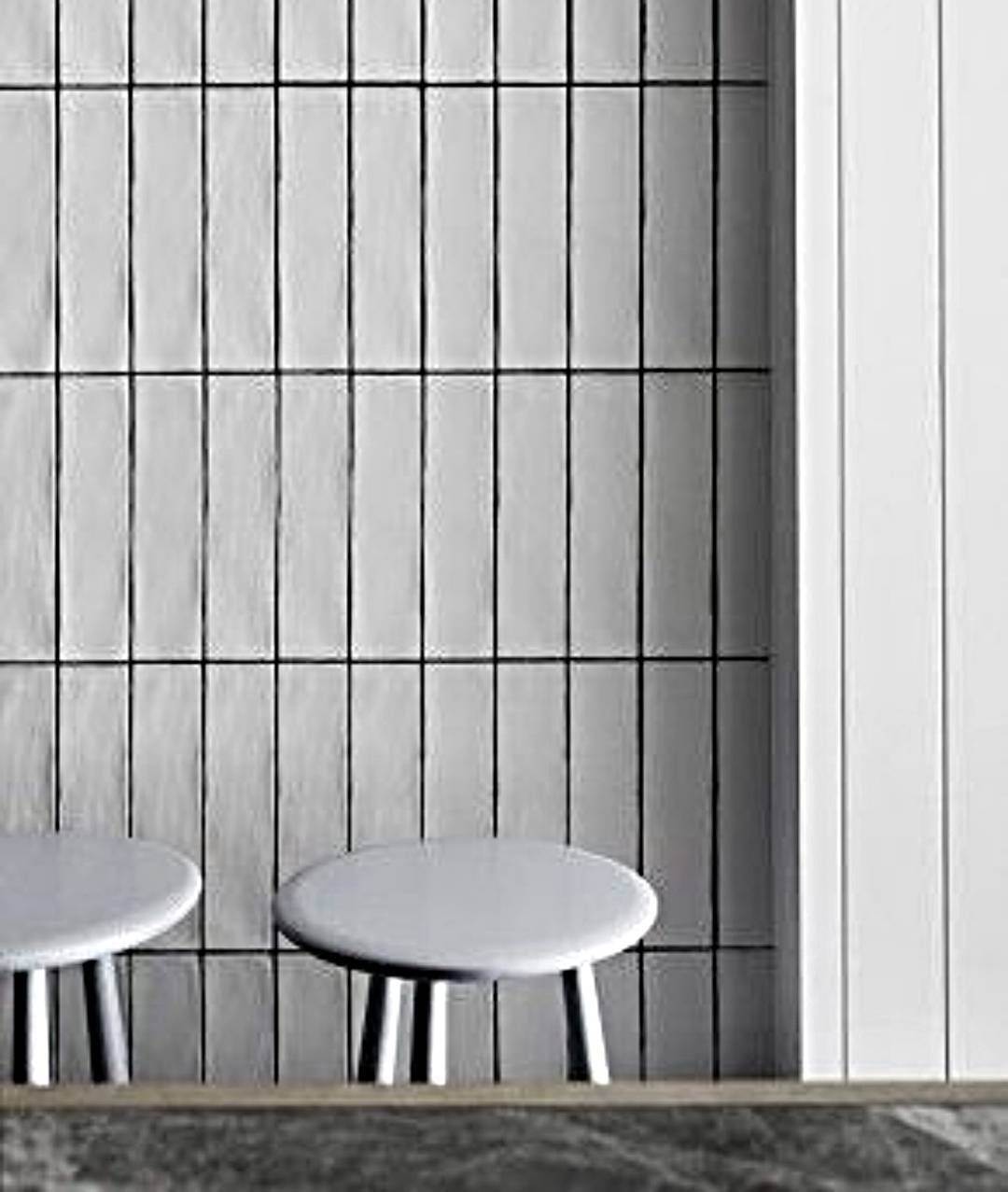 Vertically Laid 300x75 Subway Tile Creates A Completely