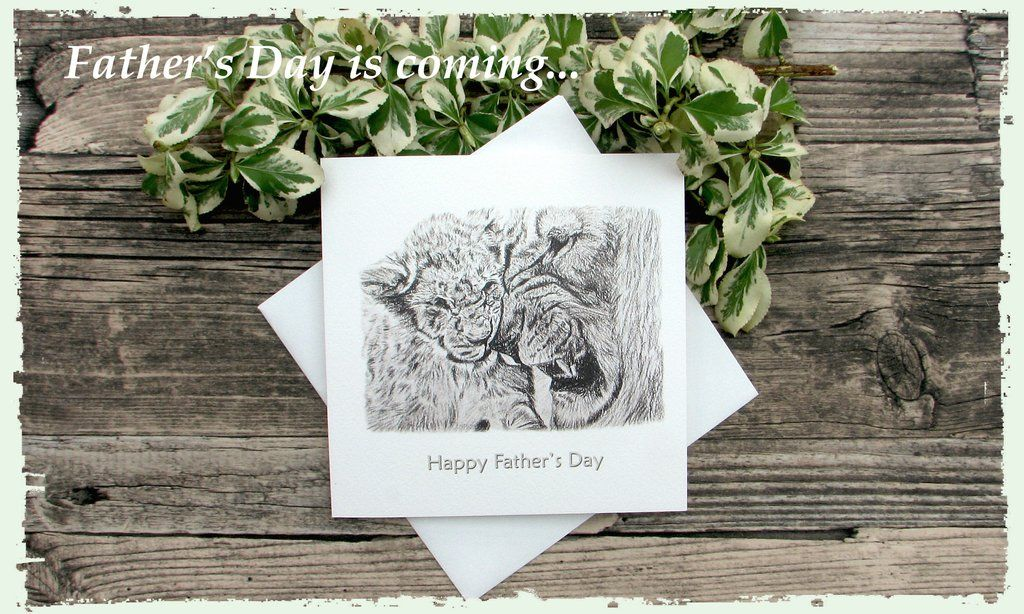 Father's Day is coming... #fathersday #lions #greetingscards