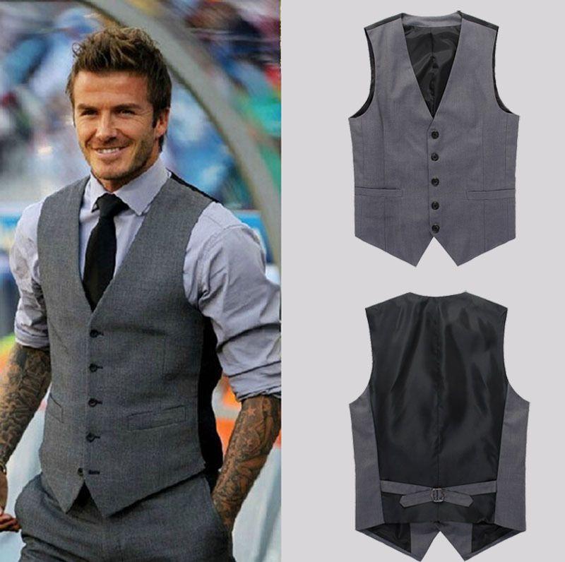 MEN'S Premium designer vest (gray) $44.43 | Clothes | Pinterest ...