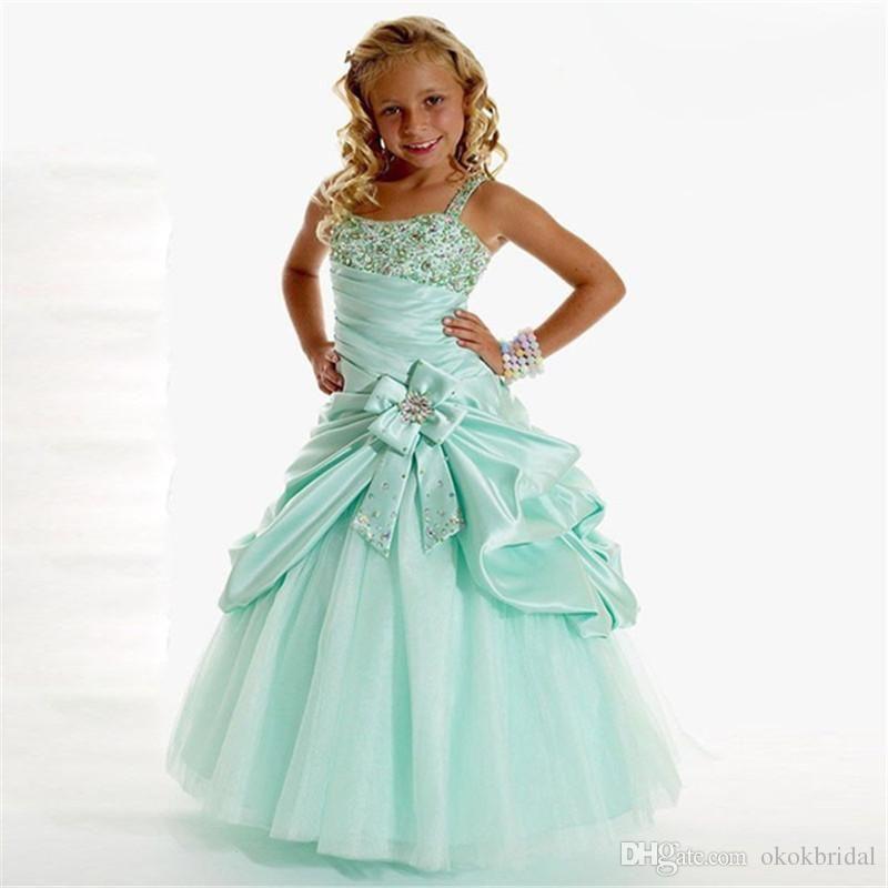 Vestidos De Festa Longo Nina 2016 Designer Flower Girl Gowns Mint Green Ball Gown Cheap Party Dresses Toddler Flower Girl Dresses Cheap White Flower Girl Dresses Cheap From Okokbridal, $73.91| Dhgate.Com