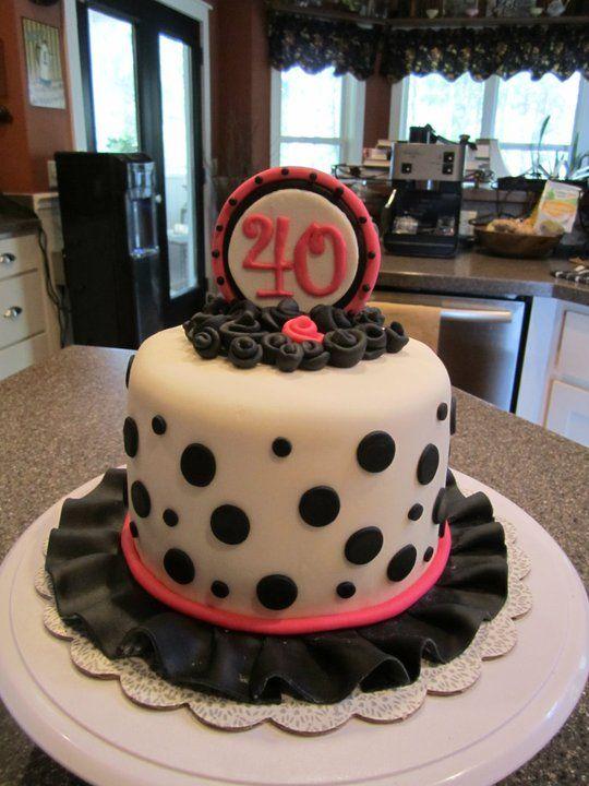 40th Birthday cake! cakes Pinterest Birthday cake toppers