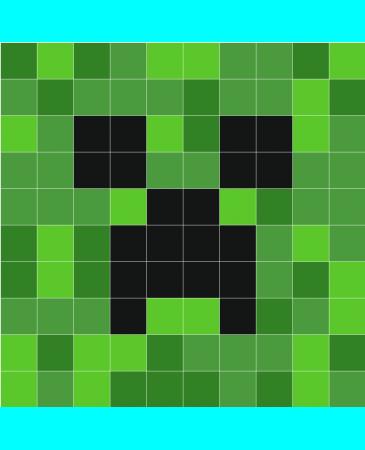 Stickaz Creeper Face Minecraft Crochet