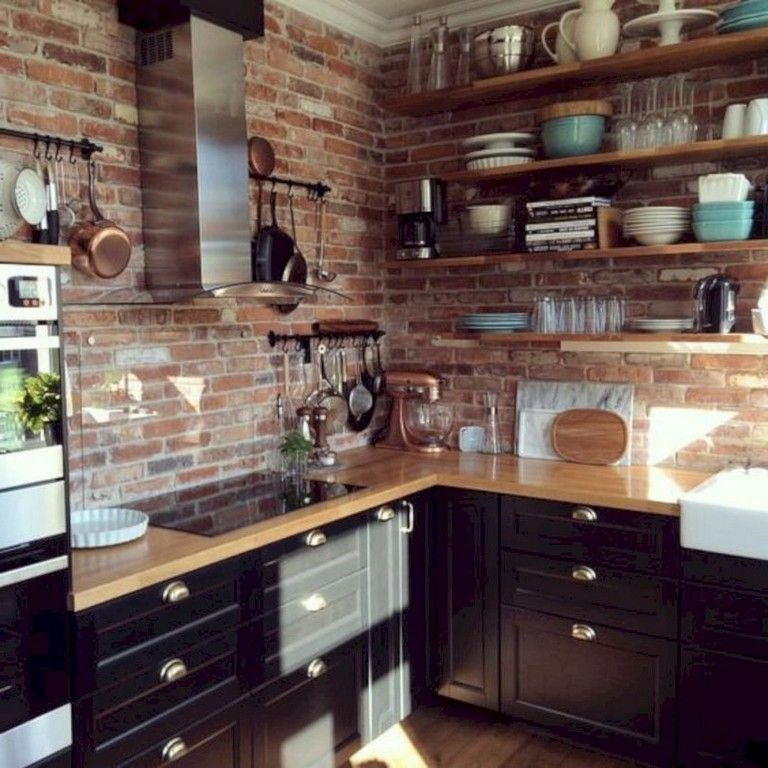 40+ Lovely Rustic Kitchen Cabinet Ideas #rustickitchens