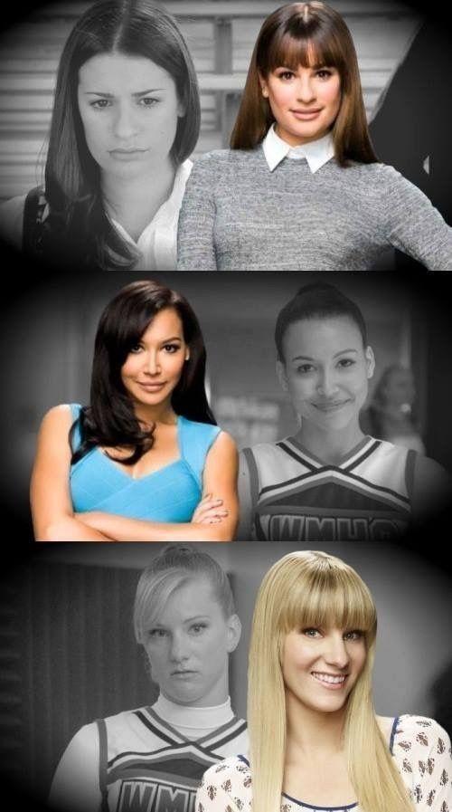Rachel, santana et brittany | Glee cast, Glee quotes, Glee