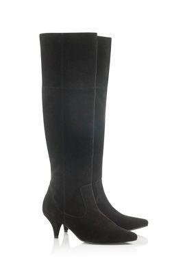 Suede Kitten Heel Boots
