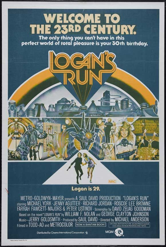 Logan S Run 11x17 Movie Poster 1976 Logan S Run Science Fiction Movie Posters Logan S Run Movie