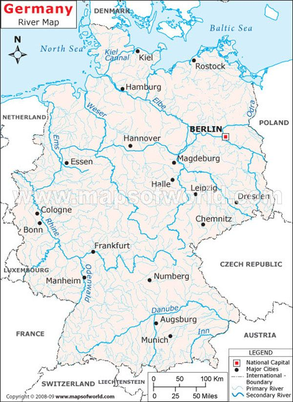 Map Of Germany With Rivers.Germany River Map Germany Culture Maps Berlin Brandenburg