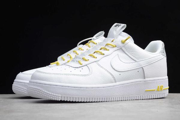 2020 Nike Air Force 1 07 Lux White Chrome Yellow 898889 104 Nike Air Force Nike Air Force Ones Nike Kd Shoes