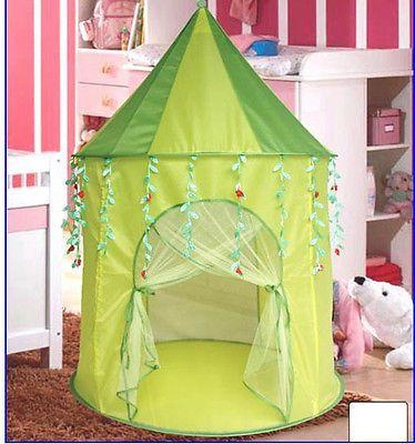 Green Leaf Princess popup Play Tent Castle Pop Up - of the week trips & GREEN LEAF PLAY TENT NEW CHILD PRINCESS / CASTLE PLAY TENT | Girls ...